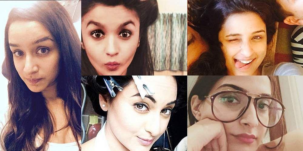 நோ ஃபில்டர் நோ மேக்கப்பா? பாலிவுட் நடிகைகளின் முகங்களை பாருங்கப்பா! Beautiful-Selfies-Of-Popular-Bollywood-Celebs