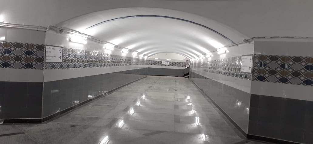 அண்ணாசாலையில் புதுப்பொலிவுடன் அண்ணா சுரங்கப்பாதை திறப்பு Subway_corridor
