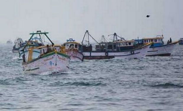 fishermen in sea