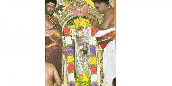 தாழம்பூ அலங்காரத்தில் அருள்பாலித்த லிங்கோத்பவமூர்த்தி.