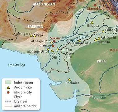 Indus-civilization-map