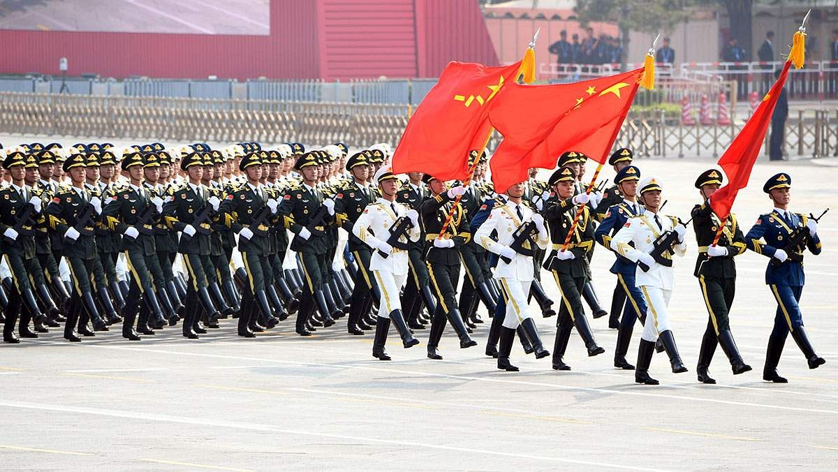 A military honor guard march