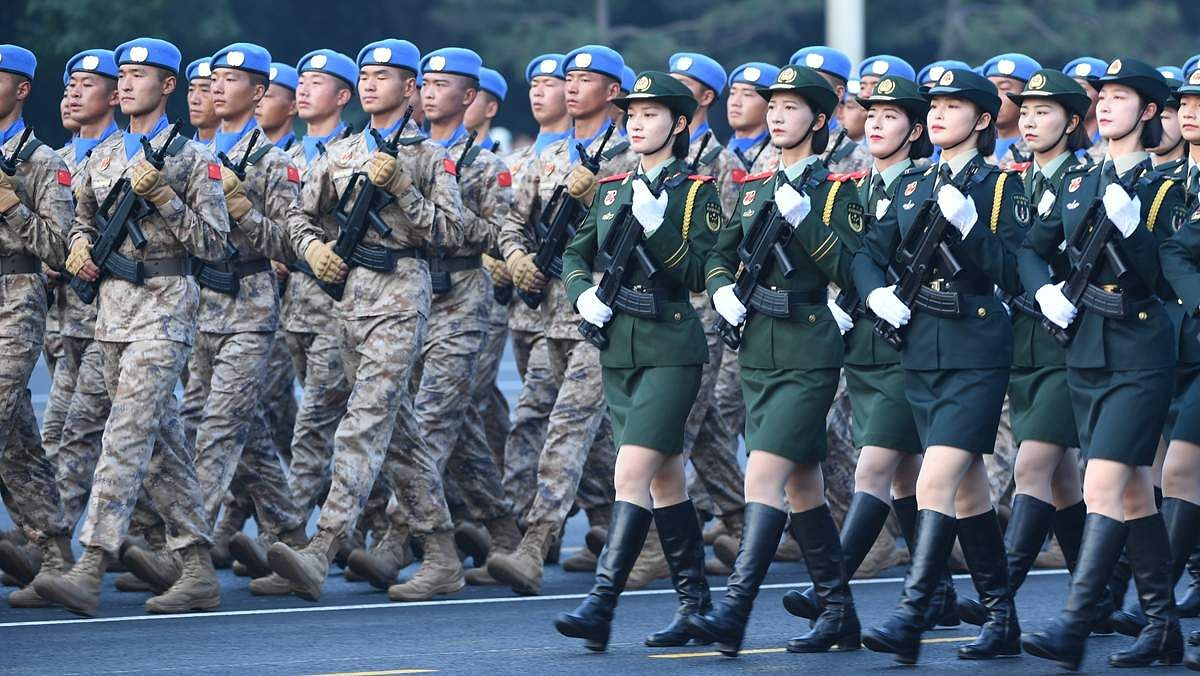 Military march in nation day celebration