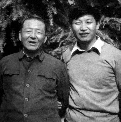 jinping with his father