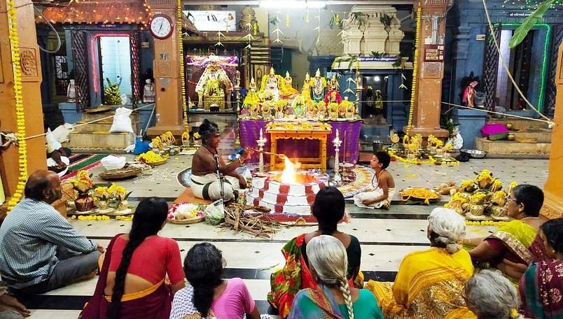 பவித்ரோற்சவத்தையொட்டி நடைபெற்ற சிறப்பு யாக பூஜை.