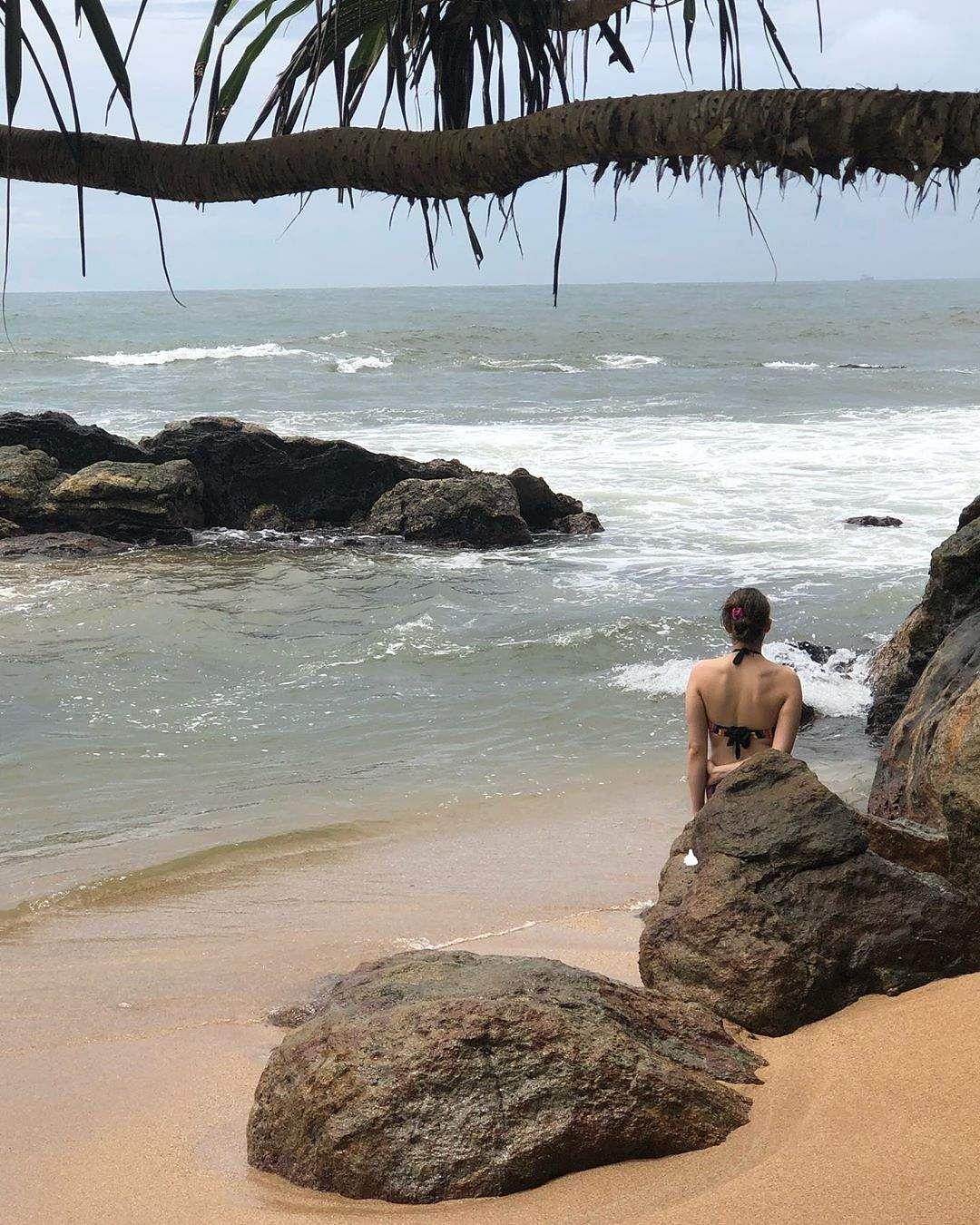sara in lanka beach