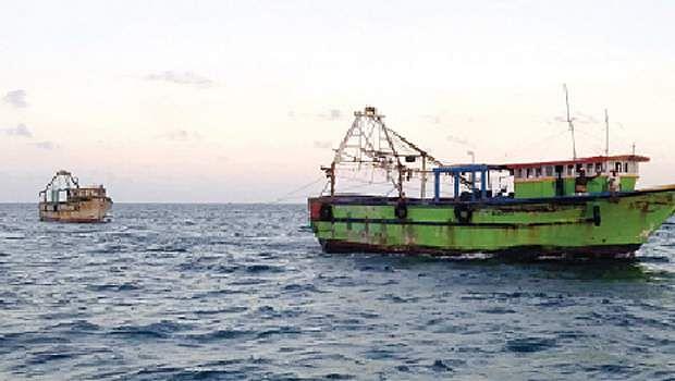 kumari fishing boats returned