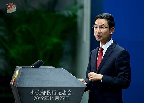 China external affairs spokesperson