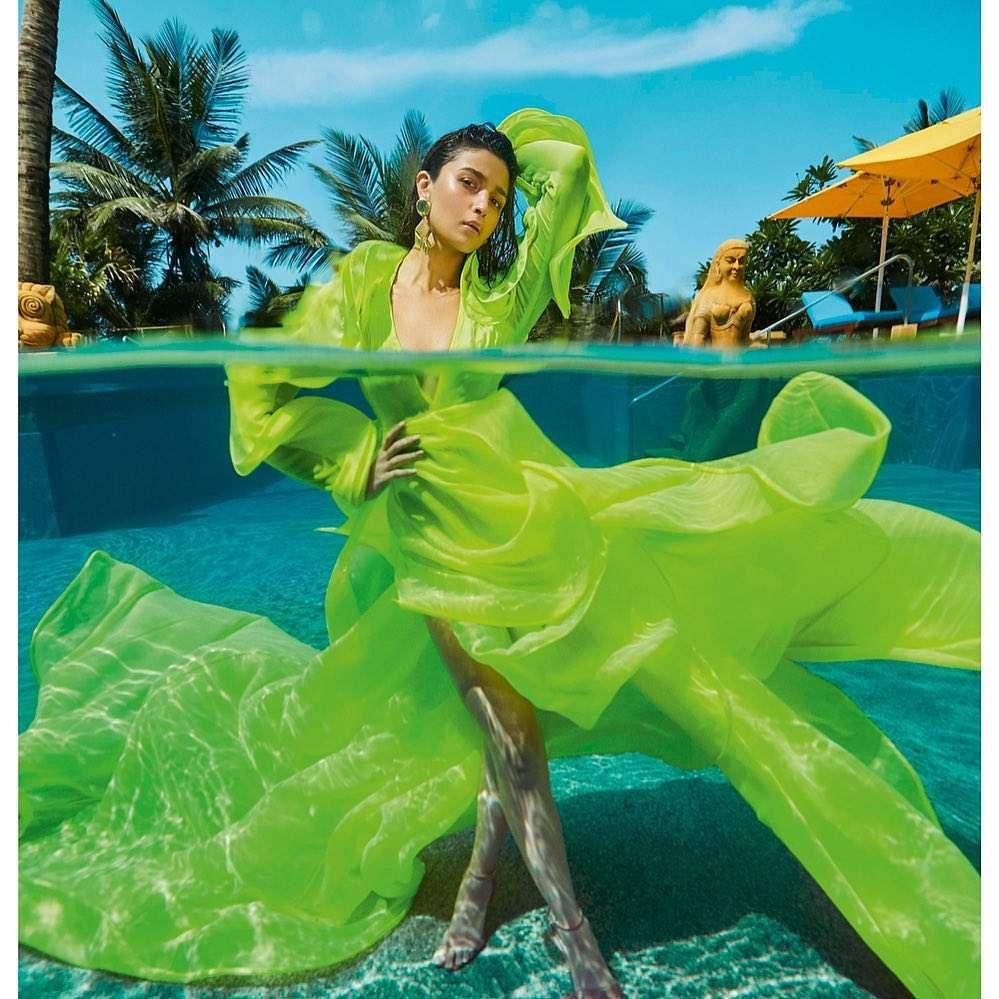 Alia Bhatt in green