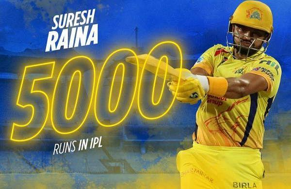 5,000 ரன்கள் குவித்து சுரேஷ் ரெய்னா அபார சாதனை!