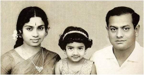 Sri devi withs her parents