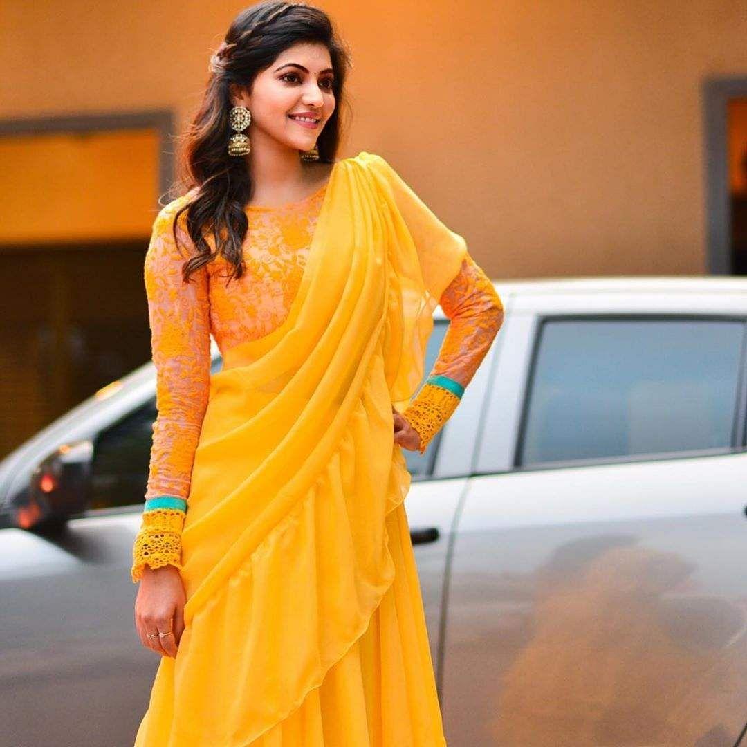 athulya ravi  in yellow dress