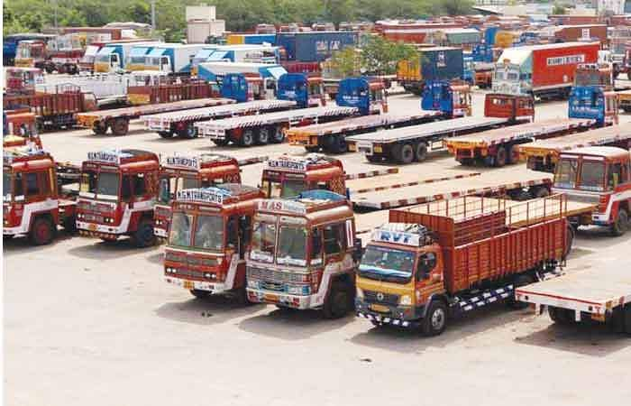 lorry container strike