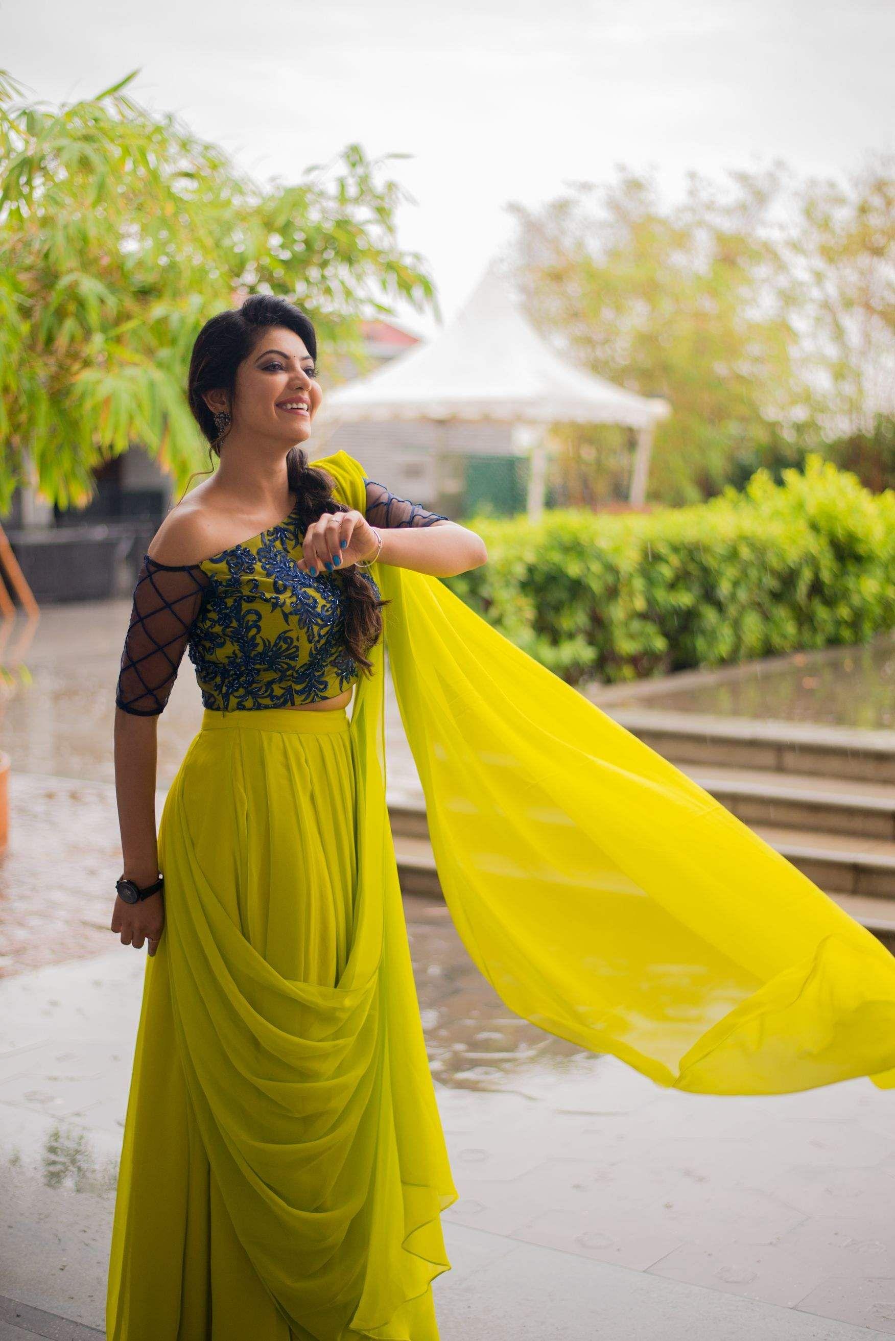 Athulya Ravi Pics stills in yellow dress