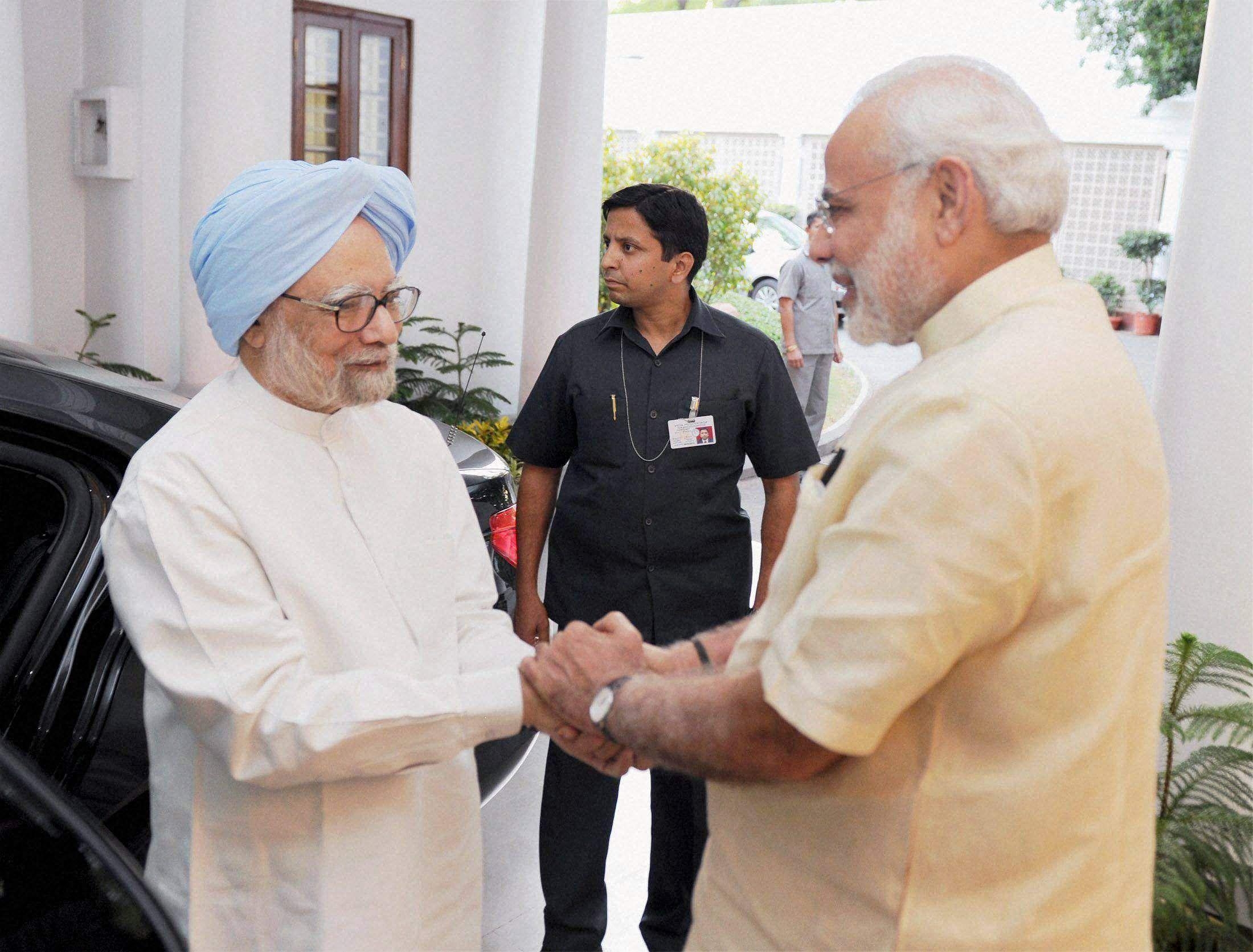 DR Manmohan singh with PM modi