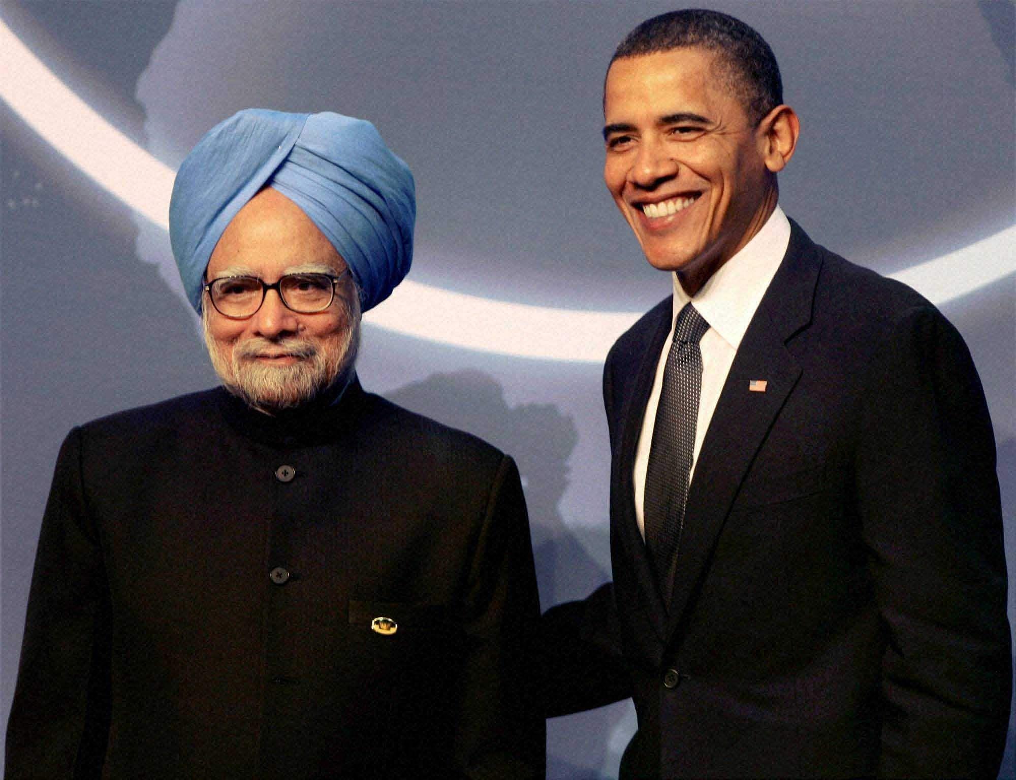 DR Manmohan singh with obama