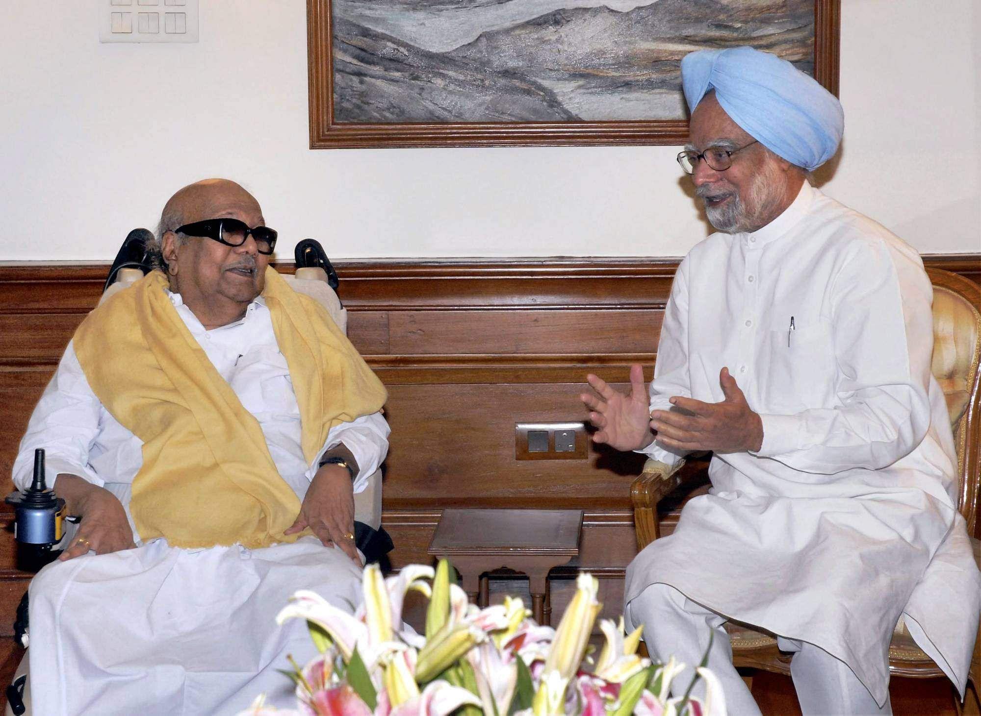 DR Manmohan singh with kalaginar
