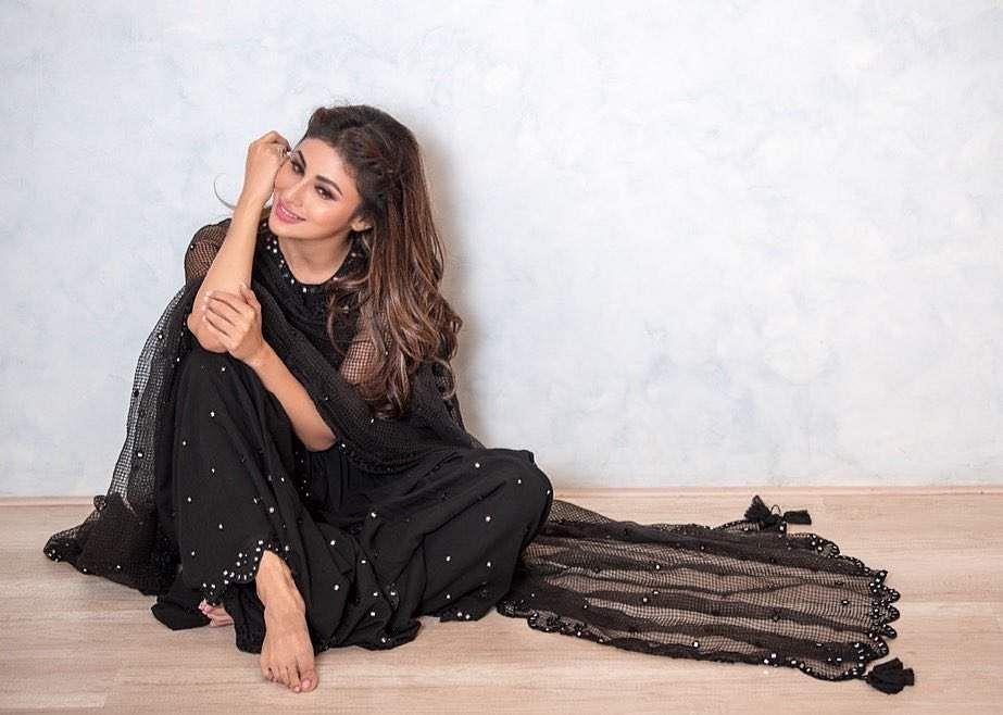 Mouni roys black ethnic wear outfit