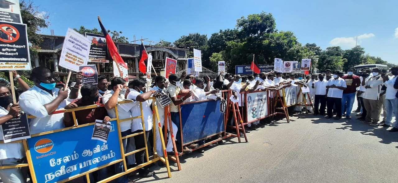 DMK Protest in Salem