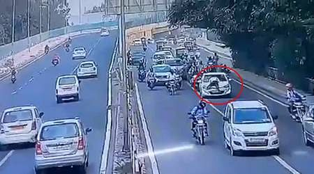 The driver of the car that collided with the traffic police was arrested