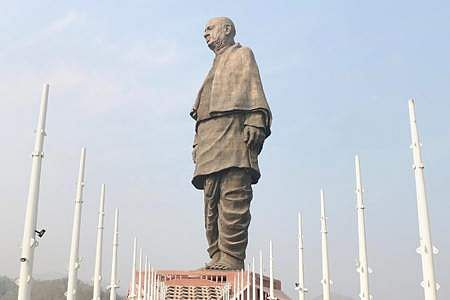 Tourists are allowed to see the Patel statue