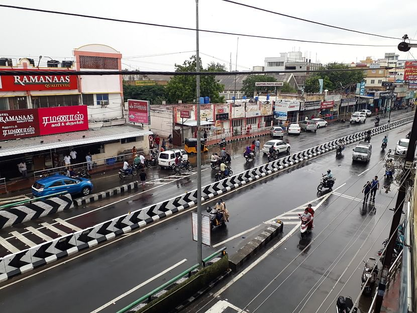 Widespread showers in Tiruppur