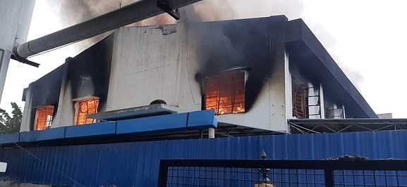Fire at Furniture factory: Objects were destroyed by fire
