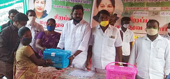 Treatment for 820 people at the medical camp