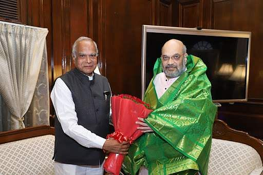 Governor of Tamil Nadu Purohit meets Home Minister Amit Shah