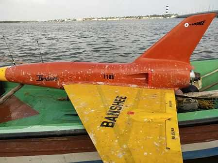 Rescue of an unmanned aerial vehicle floating in the Pazhaverkadu
