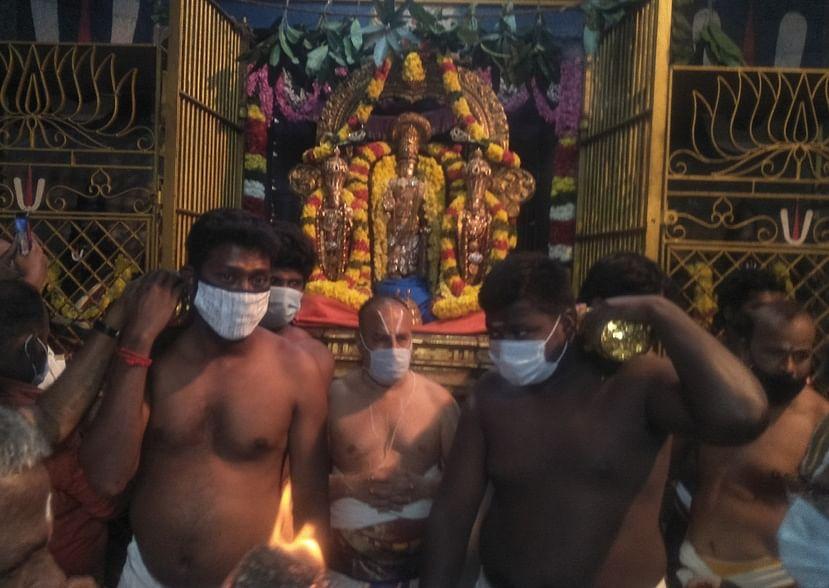 Paramapatha Opening Ceremony at Thiruvallur Veeragavar Temple
