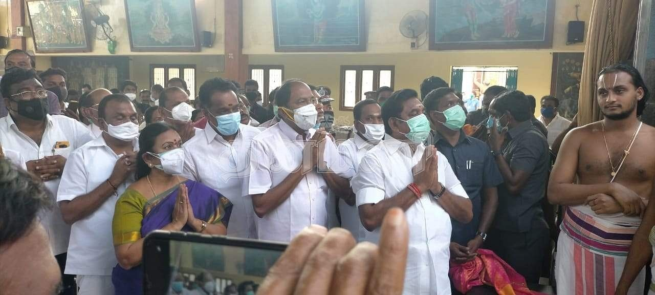 Chief Minister of Tamil Nadu for the first time at the Anjaneyar Temple