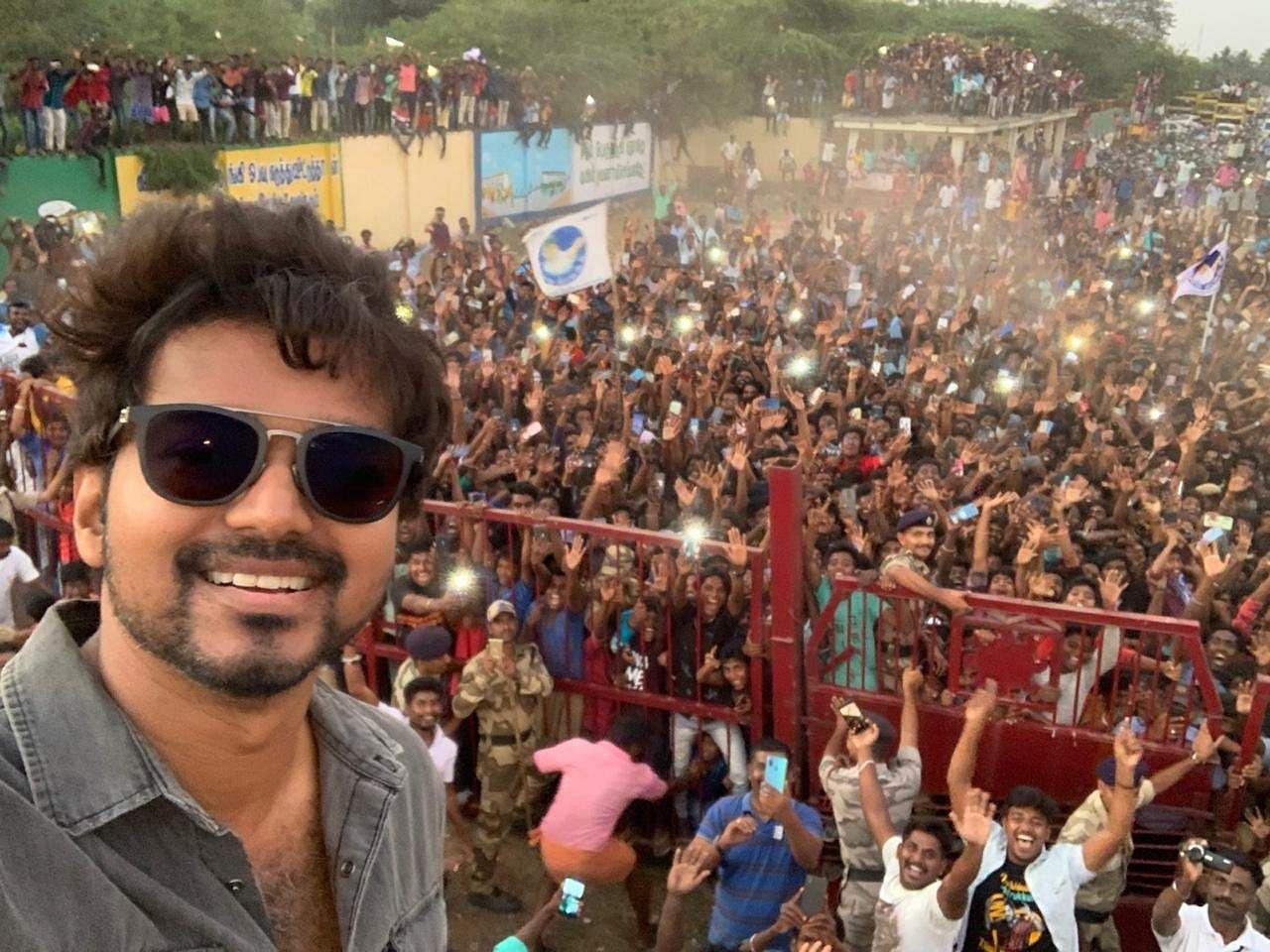 Actor Vijay Selfie