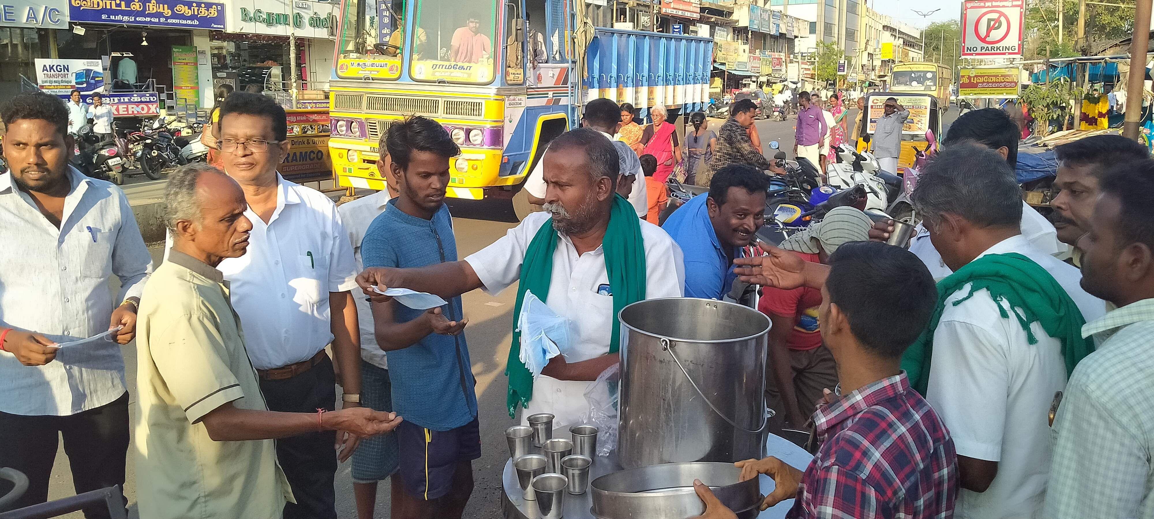 free soup by pudukottai farmer