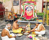 குடியாத்தம் கெங்கையம்மனுக்கு நடைபெற்ற திருக்கல்யாணம்.
