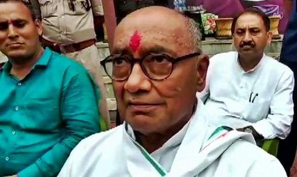 digvijaya singh compalins about fake account