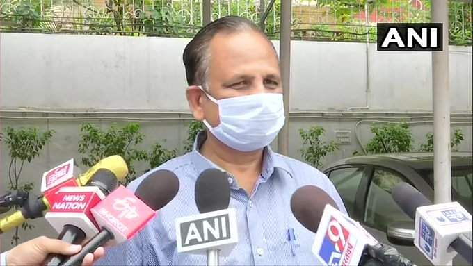 Delhi Health Minister Satyendar Jain was on Tuesday admitted to the Rajiv Gandhi Super Specialty Hospital due to fever and drop in oxygen levels.