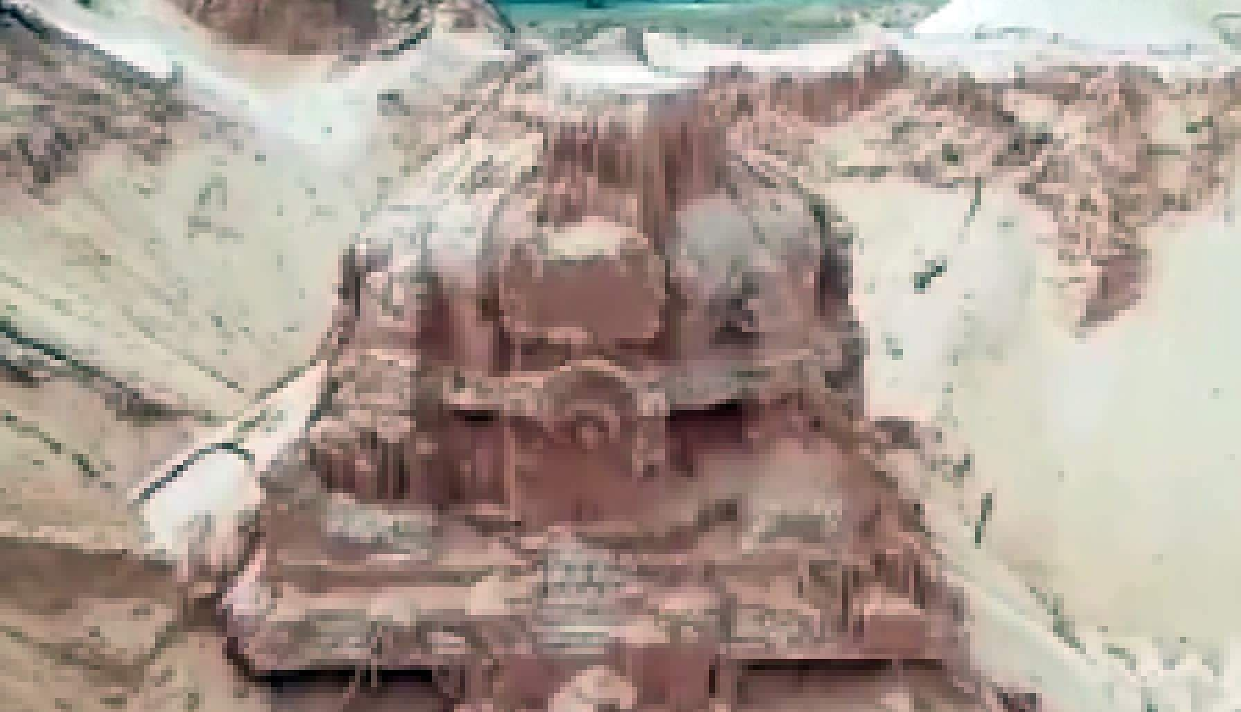 Andhra: One hundred year old Shiva temple found in river