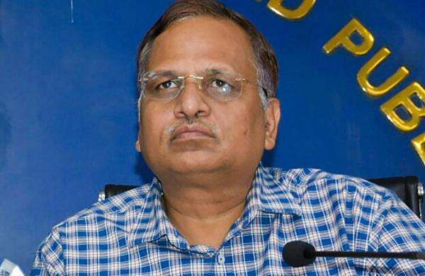Delhi Minister Satyendar Jain (file pic) has been administered plasma therapy. He has no fever now, his health will be monitored at ICU over the next 24 hours.
