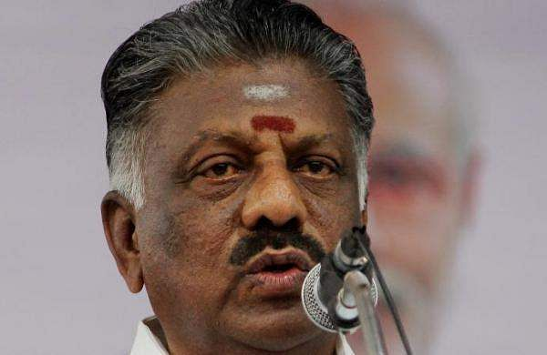 O. Paneerselvam condemns act of wrapping saffron shawl in MGR Statue