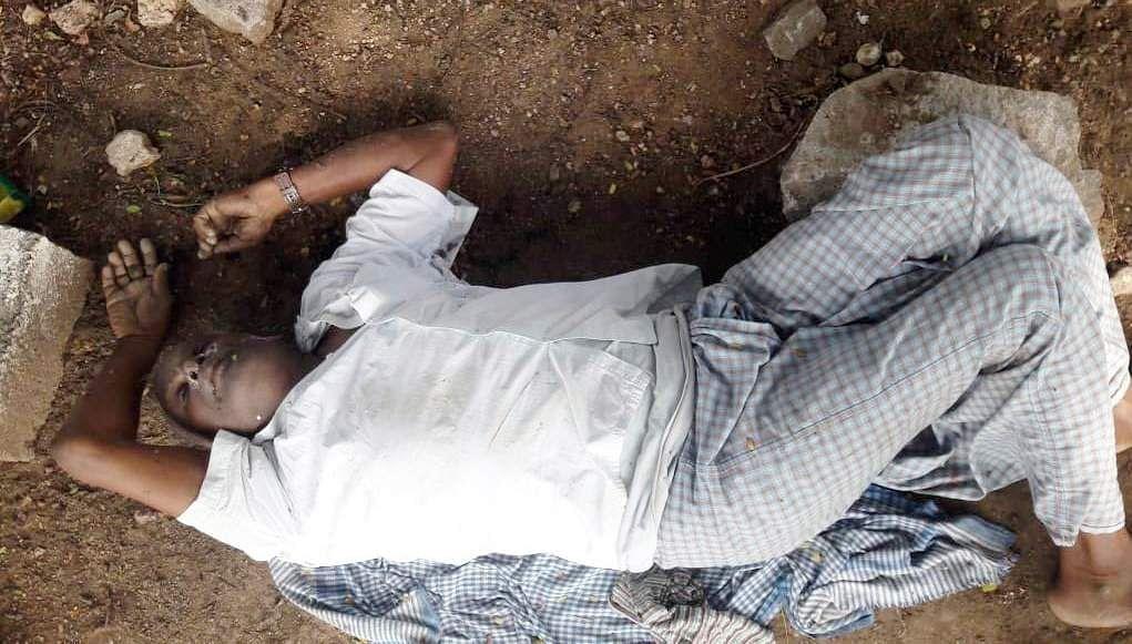 undentified body near kangayam