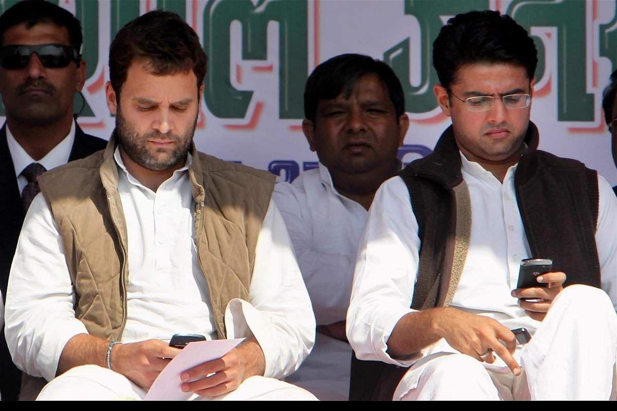 Rebel Cong leader Sachin PIlot meets Rahul Gandhi, Priyanka Gandhi Vadra