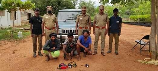 3 arrested for rabbit hunting near Kovilpatti