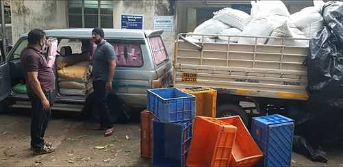 Attempt to smuggle to Kerala: 5 tonnes of ration rice confiscated