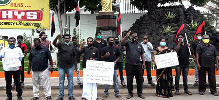 Father Periyar TK protest against Neet