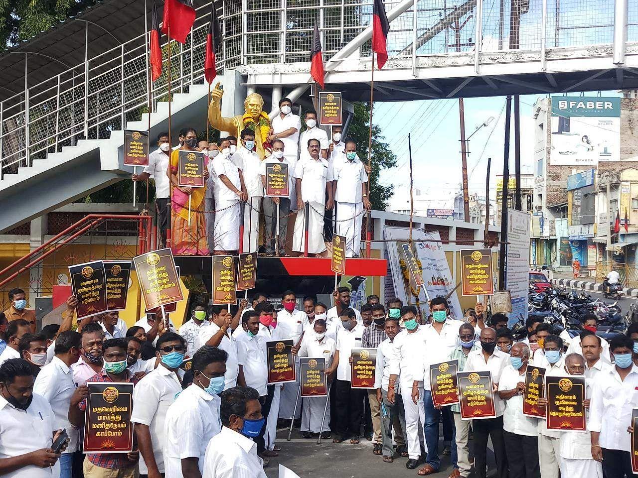 Namakkal: Annas birthday celebration