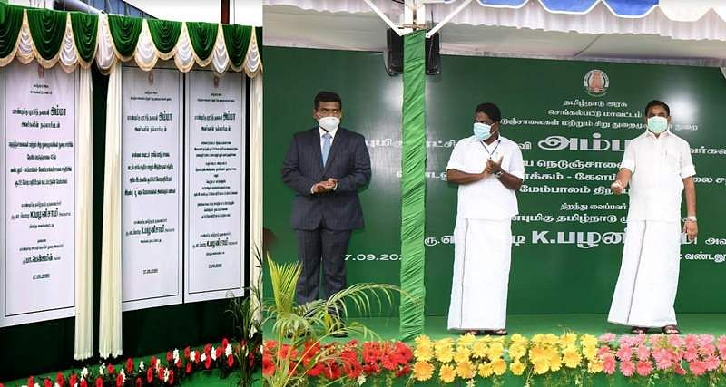The Chief Minister laid the foundation stone for U shaped flyovers in Chennai