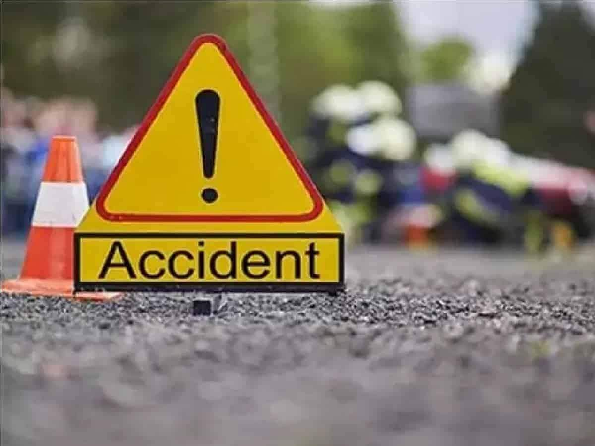Sand truck - two wheeler collision: brother, sister killed
