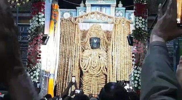 1,00,008 Vadamalai decoration for Namakkal Anjaneyar