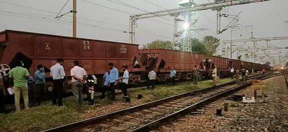 The freight train derailed near Arakkonam